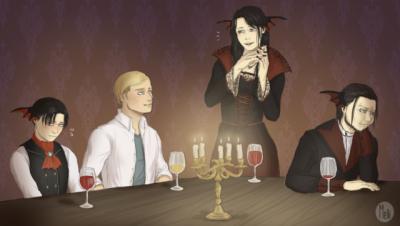 vampire!levi ackerman | Tumblr