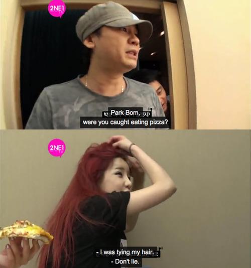 2NE1 Papa YG Bom Cute Park Bom Bommie 2ne1tv