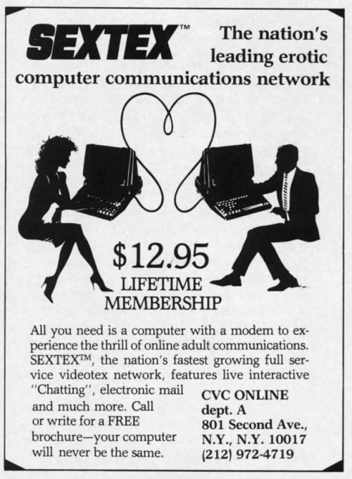 USA1986 CVC ONLINE NETWORK ADULT C64 SEXTEX