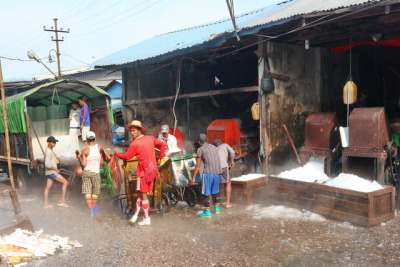 Ice on Fishmarket, Rangon, Myanmar