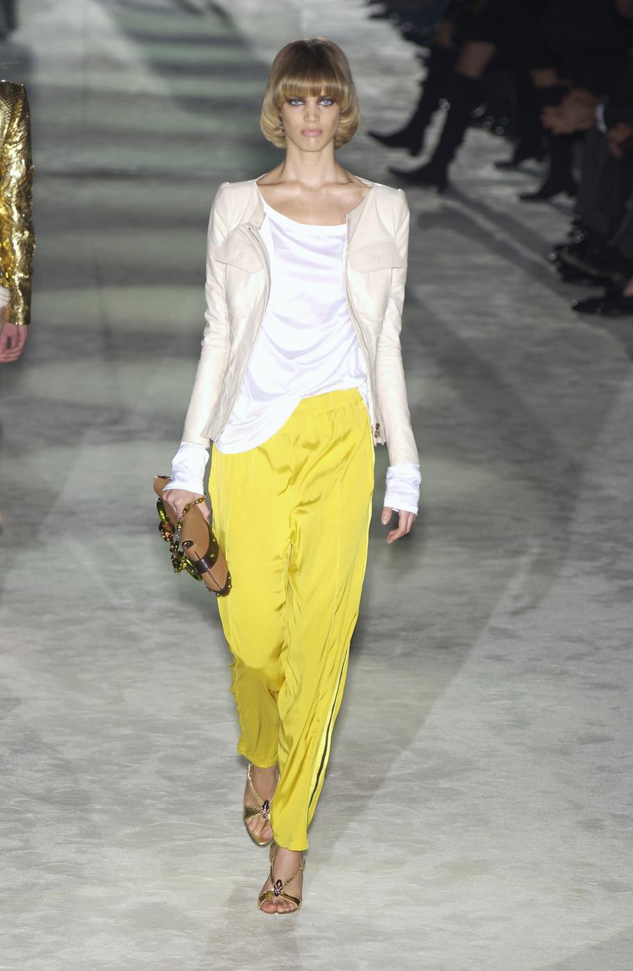 Rianne Ten Haken at Gucci S/S 2004 #Rianne Ten Haken #Gucci#Tom Ford#runway