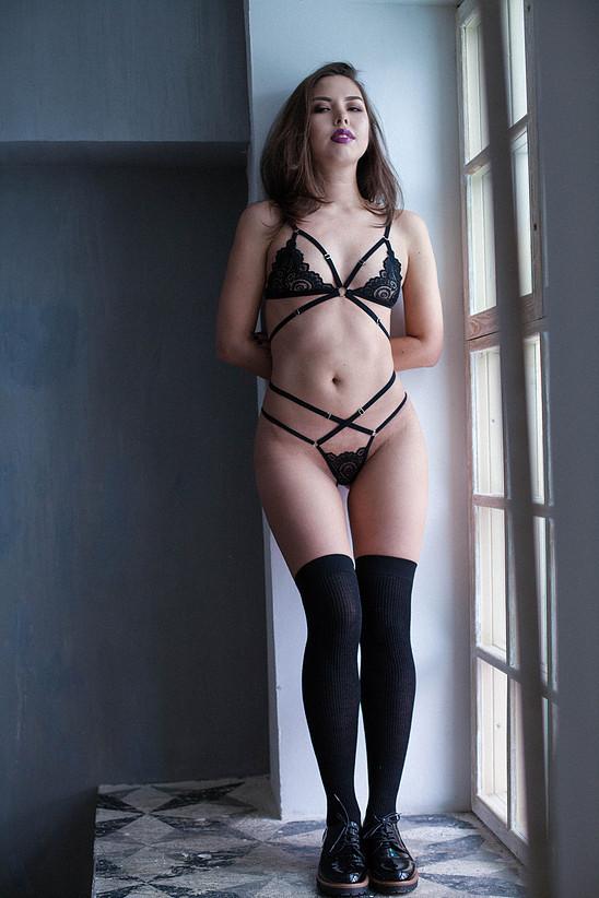 Sawren European lingerie brand Femme Fatale High brief