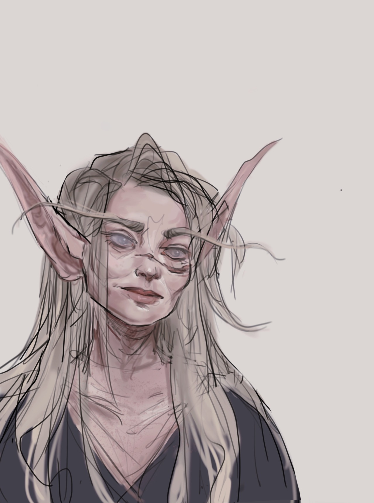 sorry for the repost, the video quality got baaad  ;;-;;   I wish I always had the time and energy to draw my older oc's age appropriately! they don't deserve the basic baby faces #wow #world of warcraft #worldofwarcraft#warcraft oc#blood elf#my art