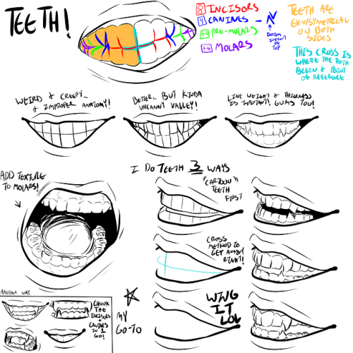 teeth tutorial art tutorial idk how else to tag skjgndf art