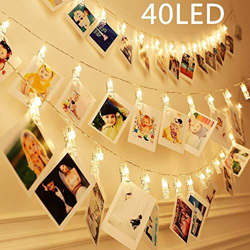 40 LEDs Clips Photos Guirlande lumineuse Batterie de SiFar