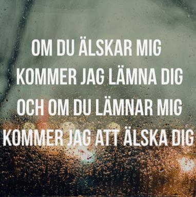 håkan hellström river en vacker dröm sång text regn svenskt svenska ord fint känslor kärlek