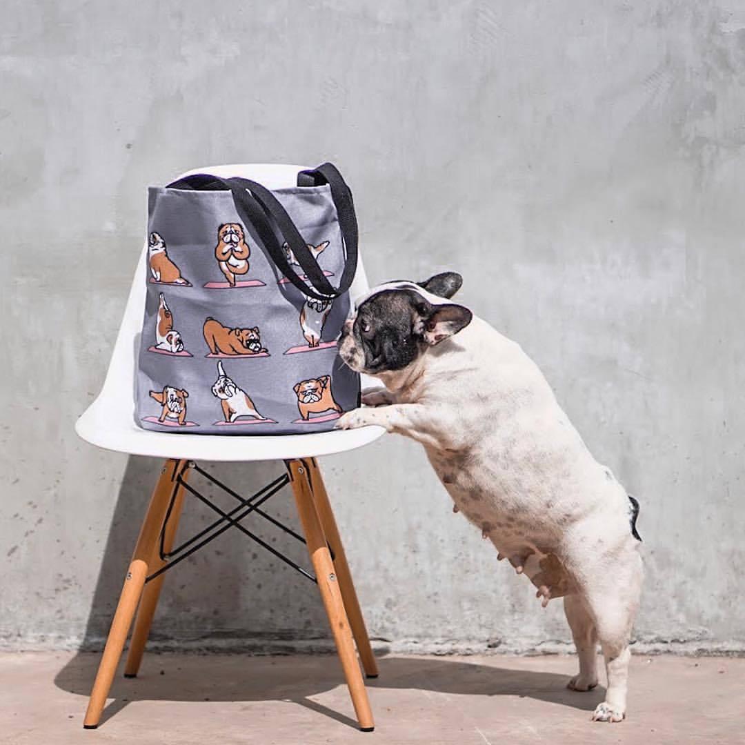 English bulldog yoga tote bag by  huebucket  society6 💪🏽🐶💦 with   11827d22df