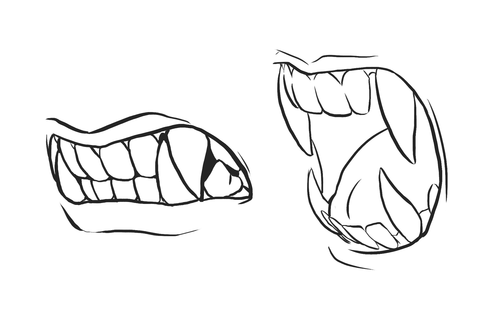 how to draw sharp teeth and have them make sense: