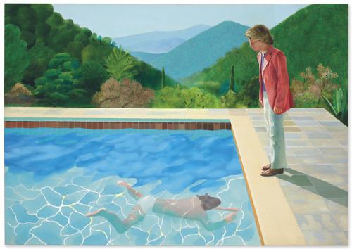 david hockney british art portrait peter schlesinger swimming pool male portrait