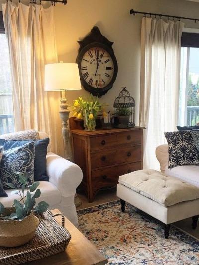 Farmhouse style living room.