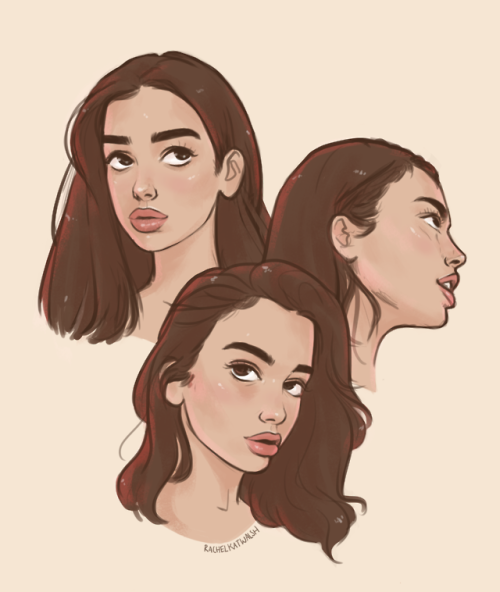 rachelkatwalsh: some sketchy portraits of dua lipai've been…