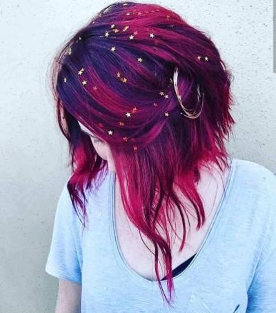 Purple Colored Hair Tumblr