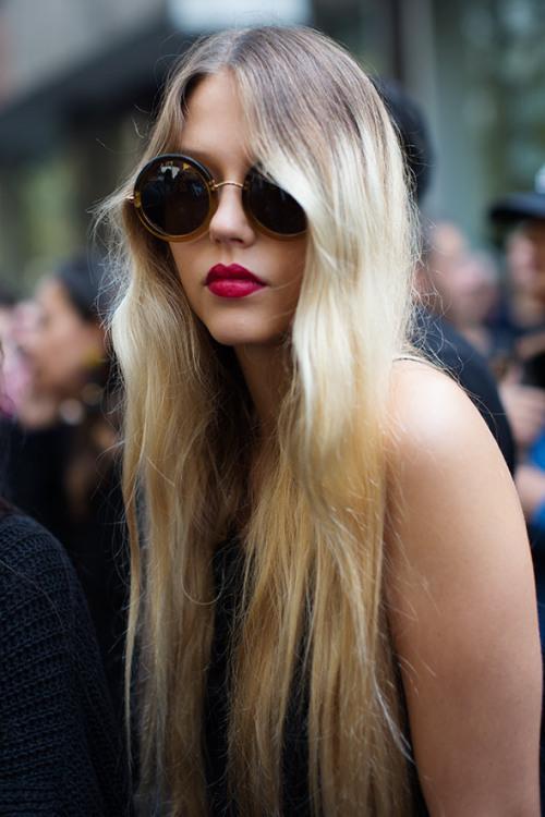 The Row Linda Farrow The Sartorialist Street Syle Fashion sunglasses