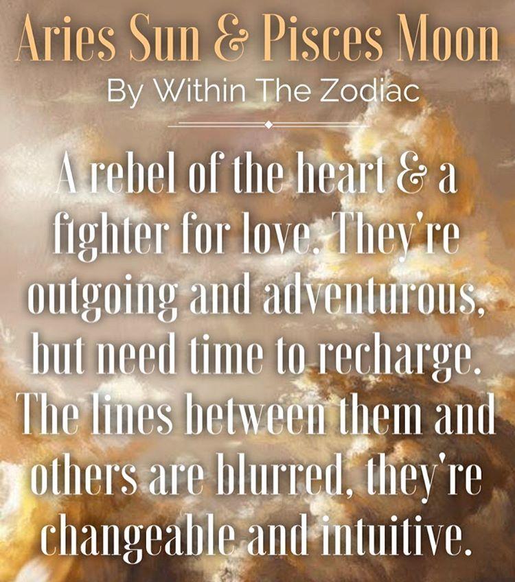 Within The Zodiac — Description for Aries Sun + Pisces Moon [Info