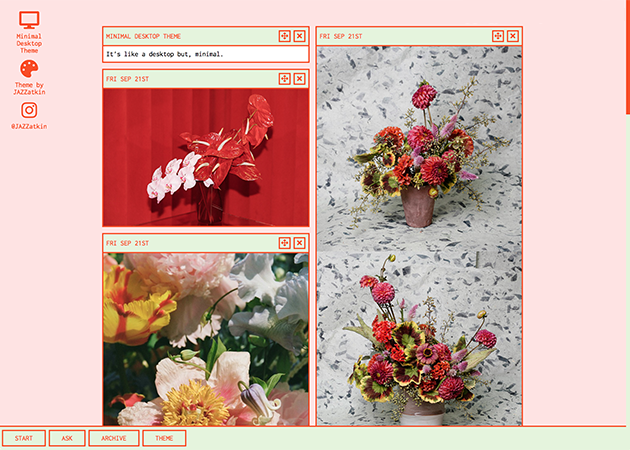 Minimal Desktop Theme | Tumblr