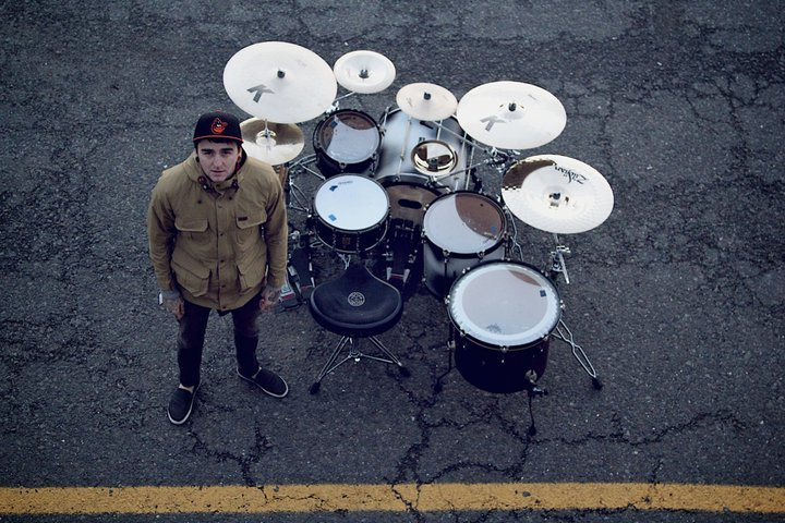 Sjc Custom Drums Matt Nicholls Set Up From Bring Me The Horizon