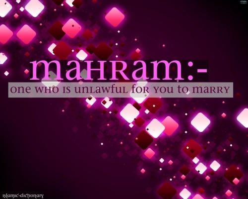 Islamic Terminology — Mahram (Arabic محرم,