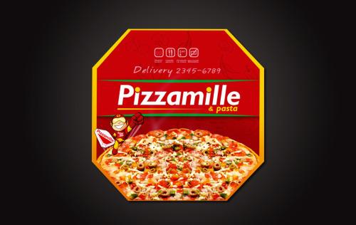 Embalagem de entrega - pizza