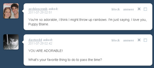 ask character askpuppyblaine puppy!blaine Blaine Anderson i love you too! don& 039;t tell kurt though