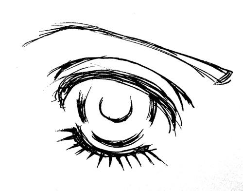 Foervraengd How To Draw A Sparkly Shoujo Manga Eye