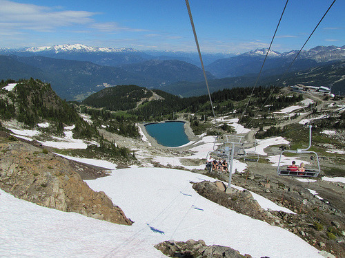 whistler canada skiing ski skilift snow winter mountain north trees forest bc british columbia