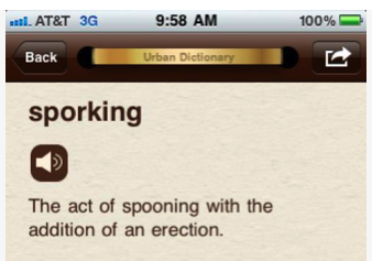 what is spooning urban dictionary