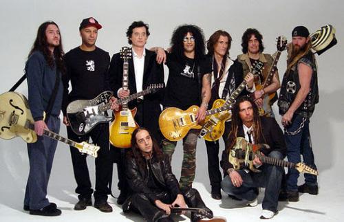 John Frusciante Daron Malakian Zakk Wylde Slash Munky Tom Morello Dean Deleo Jimmy Page Joe Perry