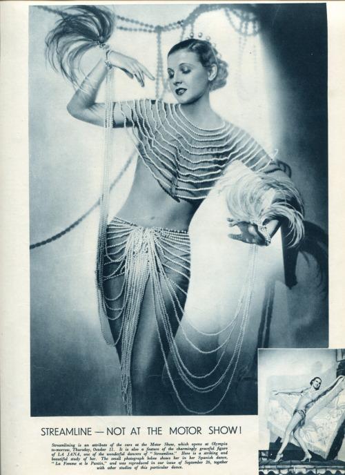 30s dancer the sketch vintage la jana streamline la femme et le pantin