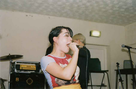""" Bikini Kill on April 17th, 1996 at Cumberland Arms, Byker, England """