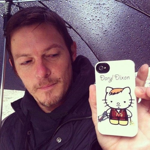 Norman Reedus hello kitty kitty white