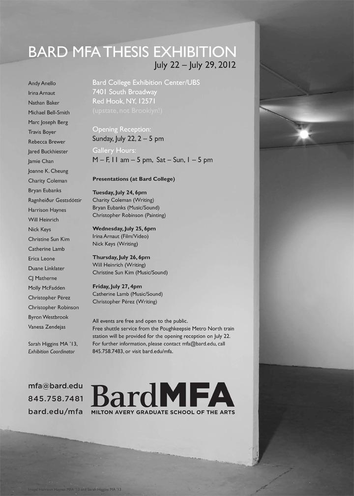 bard mfa thesis show 2013
