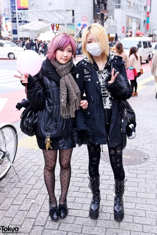 tokyo tokyo street fashion street fashion pink hair goth punk black fashion dream outfits shibuya 109
