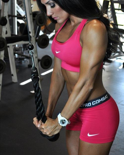 nike fitness fitspo fit nike pro combat athletic body abs pink triceps workouts health rope