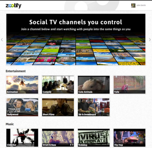 Social, live, interactive TV channels and radio    - Built With