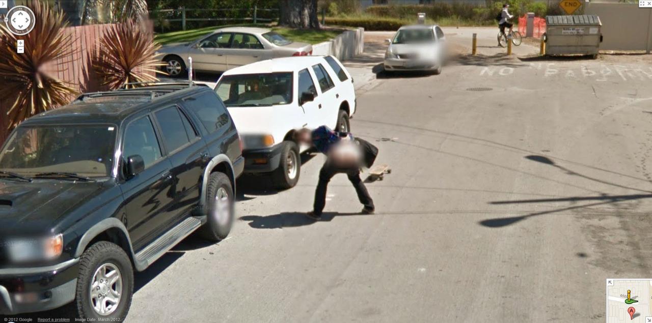 Funny Google Street Views Google Maps Street View Blurs A